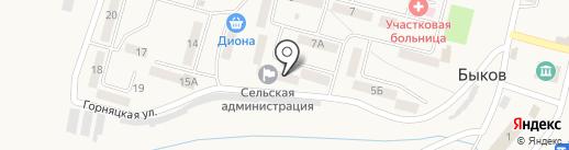 Долинский ЖКХ, МУП на карте Быкова