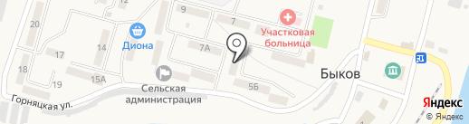 Глория на карте Быкова