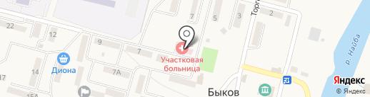 Быковская участковая больница на карте Быкова