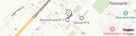 Троицкий детский дом на карте Троицкого