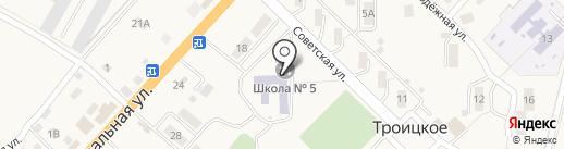 Средняя общеобразовательная школа №5 на карте Троицкого