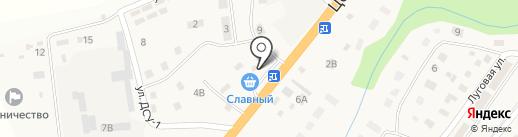 Славная на карте Троицкого
