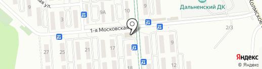 Столичный на карте Южно-Сахалинска