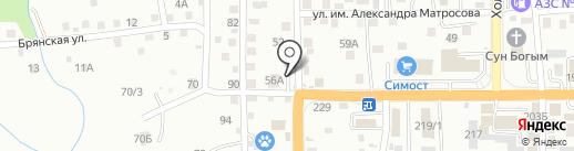 На Лермонтова на карте Южно-Сахалинска