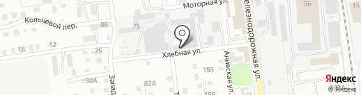 Хлебница на карте Южно-Сахалинска