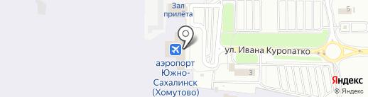 Акцент на карте Южно-Сахалинска