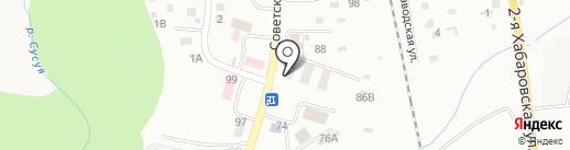 Парикмахерская на карте Южно-Сахалинска