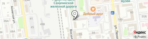 Чайхана на карте Южно-Сахалинска