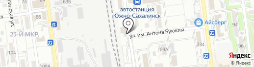 Унисон на карте Южно-Сахалинска