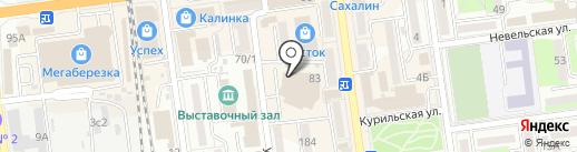 Арт-салон Радуга на карте Южно-Сахалинска