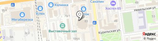 Крымская живая косметика на карте Южно-Сахалинска