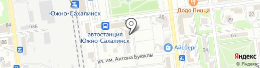 Ассоциация союз рыболовецких колхозов и предприятий Сахалинской области на карте Южно-Сахалинска