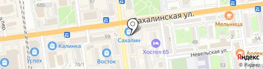Отличные наличные-Южно-Сахалинск на карте Южно-Сахалинска