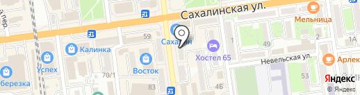 Андреев и Партнеры на карте Южно-Сахалинска