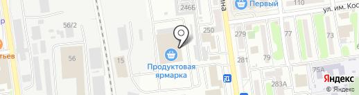 Колбасы Якутии на карте Южно-Сахалинска