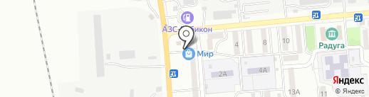 Домашнее на карте Южно-Сахалинска