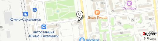 Ломбард Радуга на карте Южно-Сахалинска