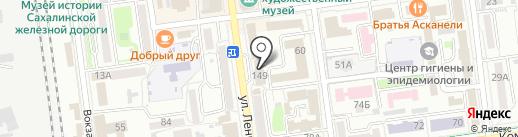 Управление МВД России по Сахалинской области на карте Южно-Сахалинска