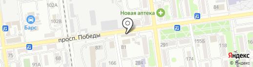 Персей на карте Южно-Сахалинска