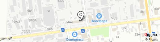 Азимут на карте Южно-Сахалинска