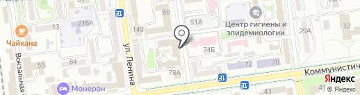 Сахалинхлеб, ЗАО на карте Южно-Сахалинска