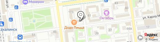 Департамент землепользования на карте Южно-Сахалинска