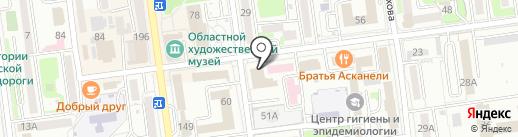 РН-СахалинНИПИморнефть на карте Южно-Сахалинска