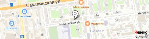 Федюкова Н.Е. на карте Южно-Сахалинска