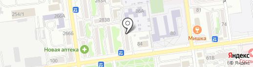 Траверс на карте Южно-Сахалинска