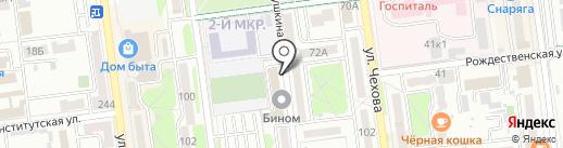 Гудков И.Г. на карте Южно-Сахалинска