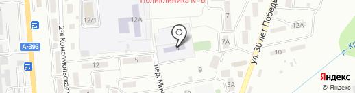 Начальная общеобразовательная школа №32 на карте Южно-Сахалинска