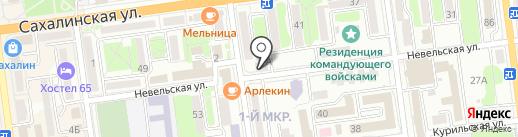 Флэш на карте Южно-Сахалинска