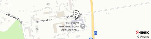 Сахалинский техникум механизации сельского хозяйства на карте Южно-Сахалинска