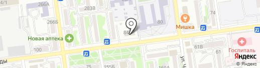 Городская баня на карте Южно-Сахалинска