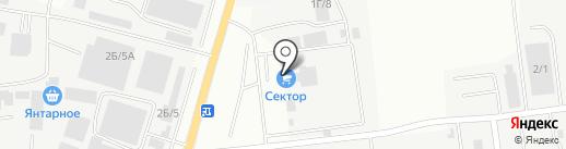 ВЛ Контейнер, ГК на карте Южно-Сахалинска