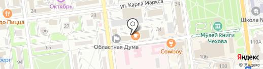 Гример Ка на карте Южно-Сахалинска