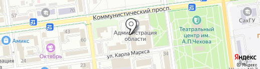 MES на карте Южно-Сахалинска