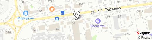 Субарик на карте Южно-Сахалинска