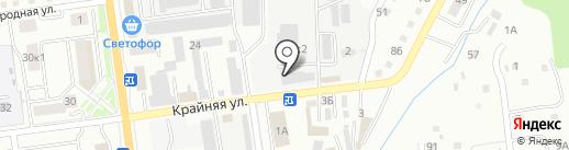 Столярыч на карте Южно-Сахалинска