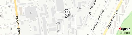 КВ Авто на карте Южно-Сахалинска