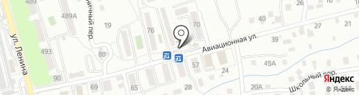 Киоск по продаже печатной продукции на карте Южно-Сахалинска