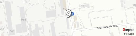 Гаечка на карте Южно-Сахалинска