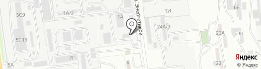 Южный на карте Южно-Сахалинска