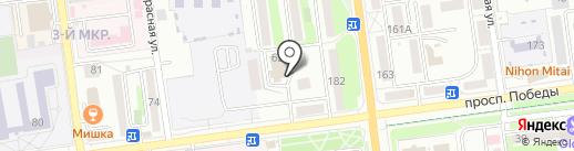 Динамо-Фиш на карте Южно-Сахалинска