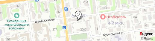 Труд-Сахалин на карте Южно-Сахалинска
