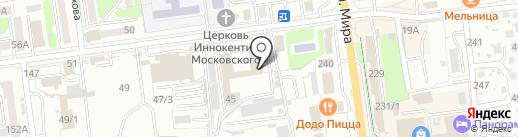Ракурс65 на карте Южно-Сахалинска