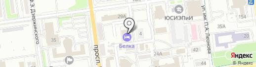 Белка-Отель на карте Южно-Сахалинска