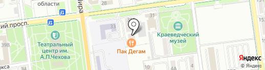 Интер Энерджи на карте Южно-Сахалинска