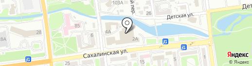 Райдер на карте Южно-Сахалинска