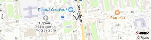 Школьная пара на карте Южно-Сахалинска